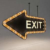 Light Bulb Loft Exit Signage