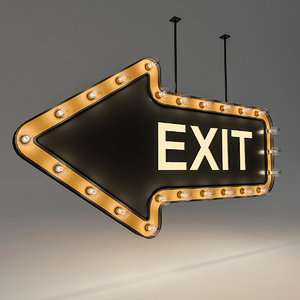 3D model bulb loft signage