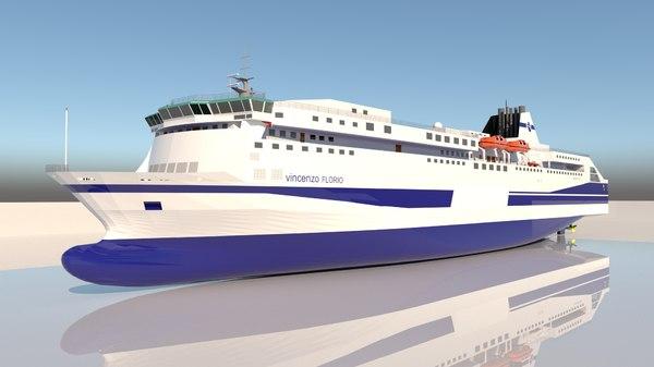 3D ferry ship
