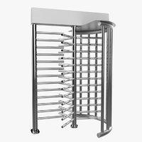 3D security turnstile access model