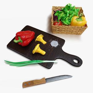 kitchen set 3D model