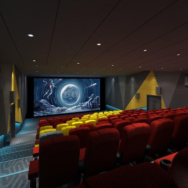 auditorium interior space 3D model