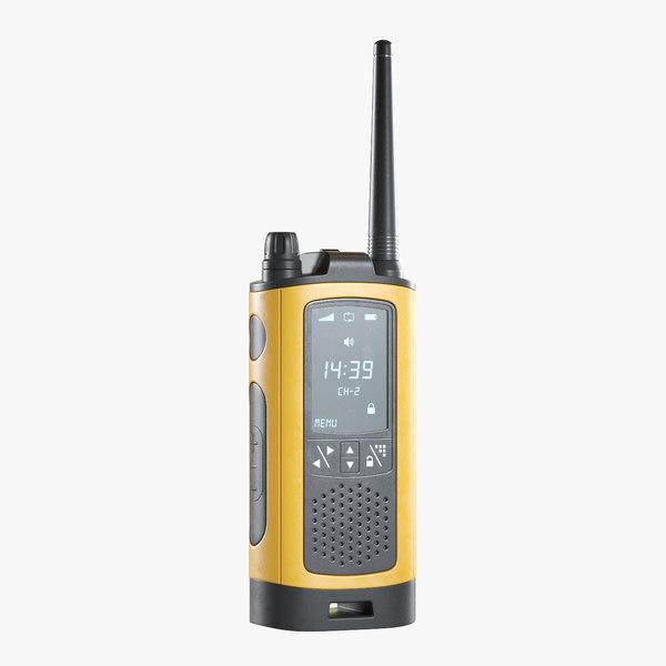 3D model walkie-talkie 1