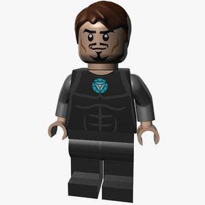 3d lego tony stark model