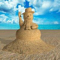 sand sculpture 3D model