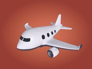 3D plane cartoon model