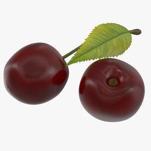 cherry fruit food 3D model
