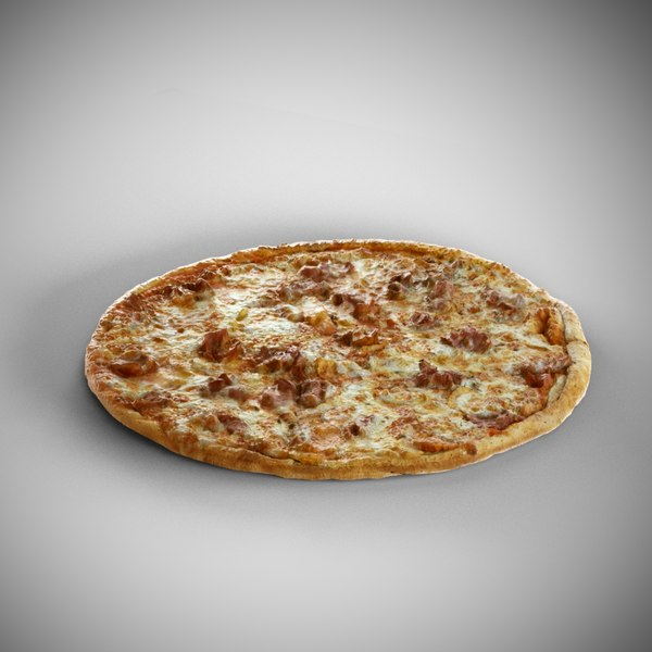 scanned pizza 3D model