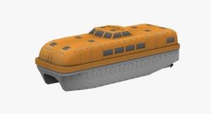 3D crw55 lifeboat