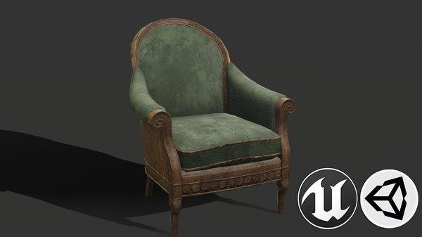 3D old pbr model