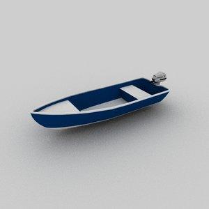 motorboat boat motor 3D