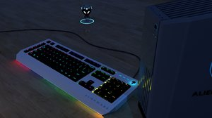 keyboard alienware pc 3D model