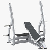 inclined press bench 01 3D model