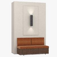 3D classic sofa lamp model