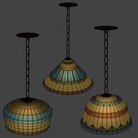stained glass lights 3D model
