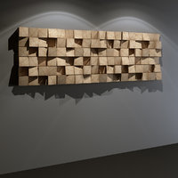 3D wooden acoustic wall panel model