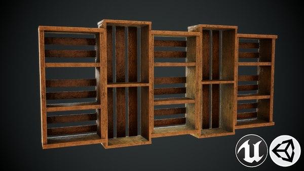 3D shelf pbr