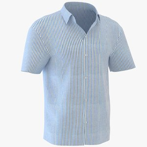 man short sleeve shirt 3D model