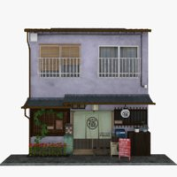 old guest house building model