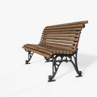 bench corona pbr 3D model