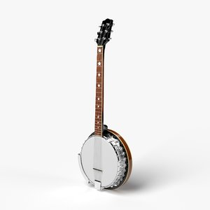 3D banjo instrument music model
