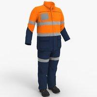 mining workman worker 3D model