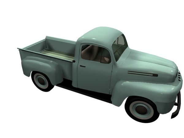 old pickup truck 3D