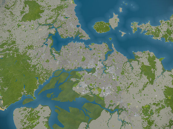3D city auckland surrounding -
