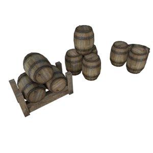 3D container barrel cask model