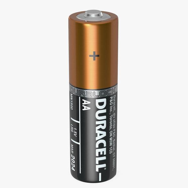 3D duracell aa battery cell model