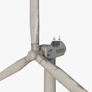 wind turbine animation 3D model