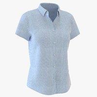 3D woman short sleeve shirt