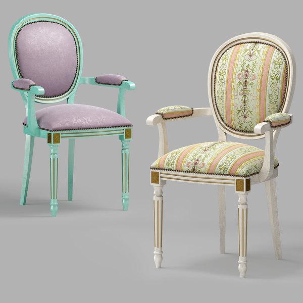 classic chair amadeus s104l 3D model
