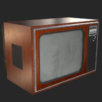 retro television 1970s tv 3D