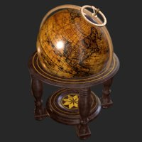 3D standing globe