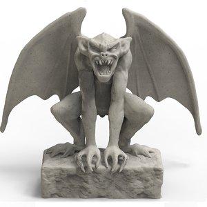 gargoyle monster creature 3D model