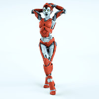 robot bot cyborg 3D model