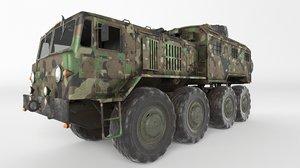 3D model soviet truck maz 537