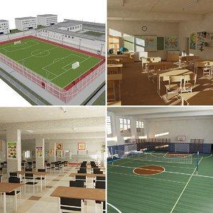 3D school interiors model