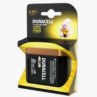 duracell power battery alkaline 3D model