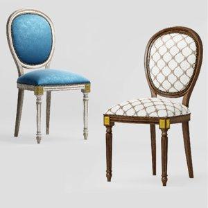 classic chair amadeus s104 3D model