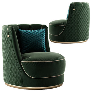 3D model vittoriafrigerio bianca armchair