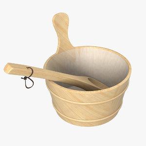 3D sauna bucket ladle