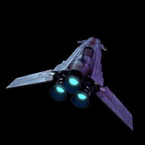 sci-fi space fighter model