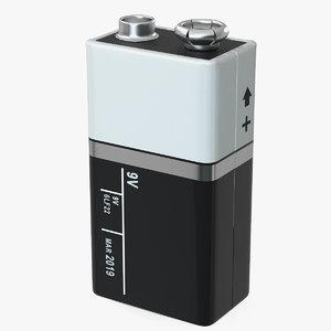 3D 9-volt battery model