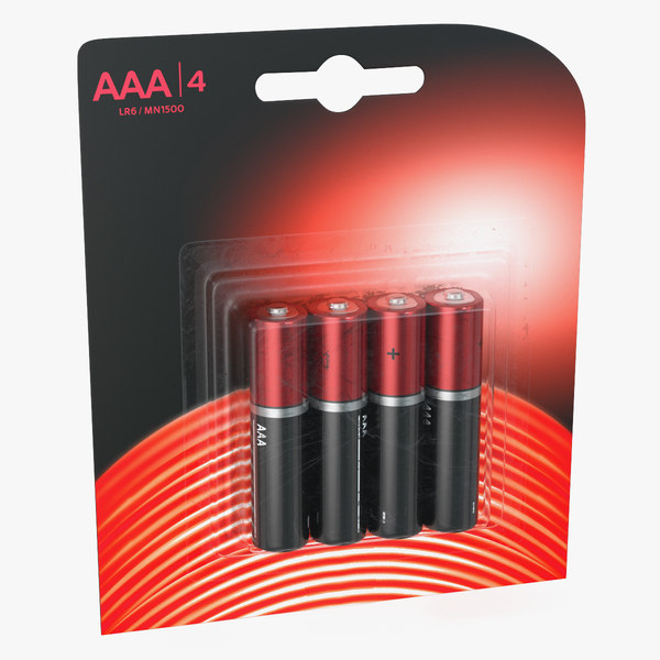 3D model aaa battery package