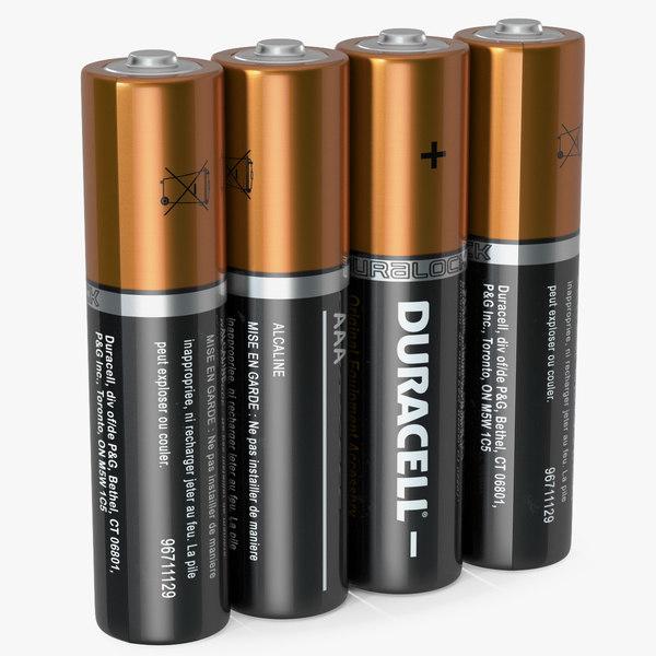 3D aaa duracell alkaline battery