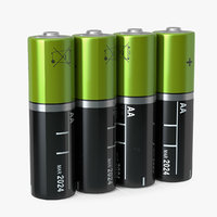 aa batteries 3D