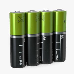 aa batteries 3D