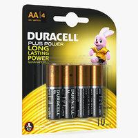 duracell coppertop aa alkaline 3D